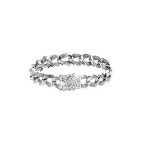 Sterling Silver Celtic Design Link Bracelet by Keith Jack