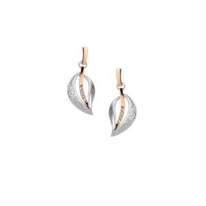 Sterling Silver Trinity Leaf Earrings by Keith Jack