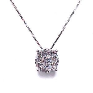 Multi Diamond Pendant by LoveBright