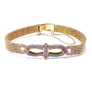 Estate Woven Diamond Bracelet