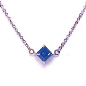 Asscher Cut Iolite Necklace