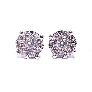 Lovebright Diamond Cluster Earrings