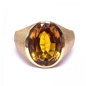 Estate Oval Golden Topaz Ring