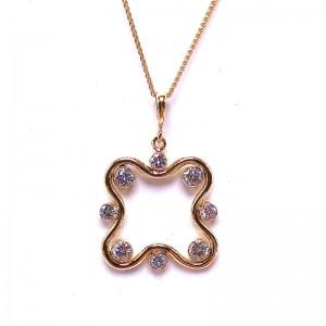 Freeform Diamond Bezel Pendant