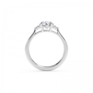 Forevermark Accent™ Engagement Ring with Triple Sides
