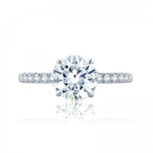 A.JAFFE Quilted Round Engagment Semi Mount