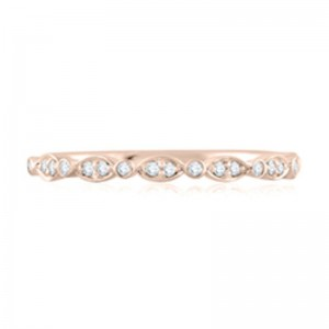 A.JAFFE Round & Marquise Diamond Stackable Ring