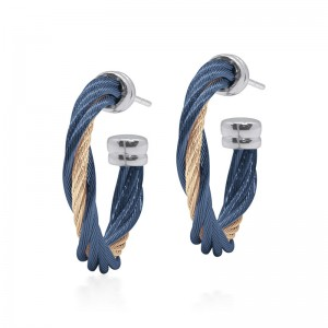 Alor Blueberry and Carnation Twist Earrings
