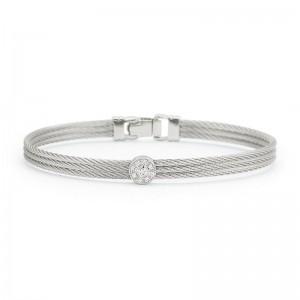 Alor Grey Cable Stackable Bracelet