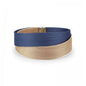 Alor BlueBerry and Carnation Cable Bracelet