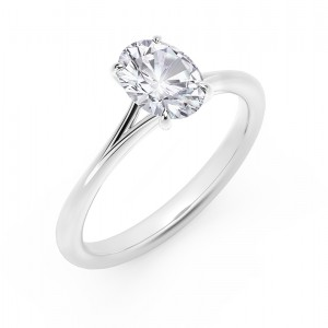 Forevermark Icon Oval Diamond Engagement Ring