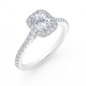 Cushion Diamond Engagement Ring by Forevermark