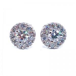 Damond Halo Earrings