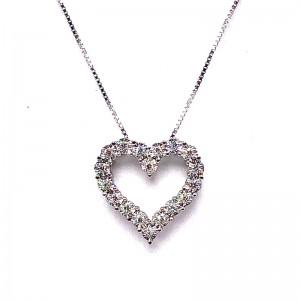 Miracle Mark Diamond Heart Necklace
