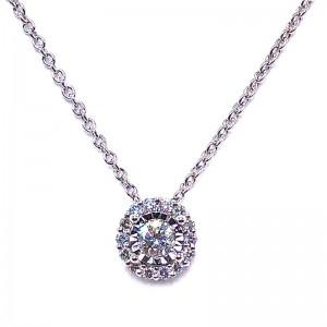 Miracle Mark Diamond Halo Necklace