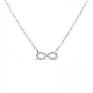 SHY Creation Diamond Infinity Necklace