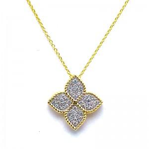 Diamond Flower Necklace