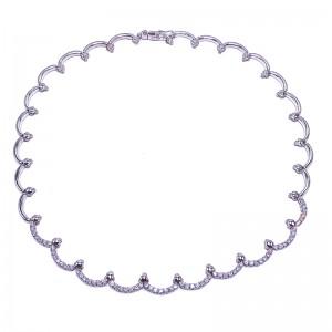 Scalloped Diamond Necklace