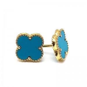 Turquoise Clover Earrings
