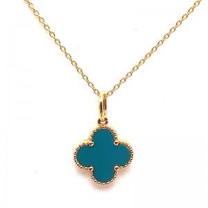 Turquoise Clover Pendant