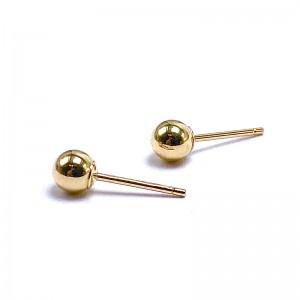 Ball Stud Gold Earrings