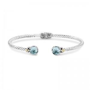 Samuel B. Sterling Silver and Blue Topaz Bangle Bracelet