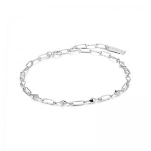Ania Haie Silver Heavy Spike Bracelet