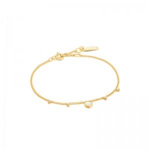 Ania Haie Pearl Drop Disc Bracelet