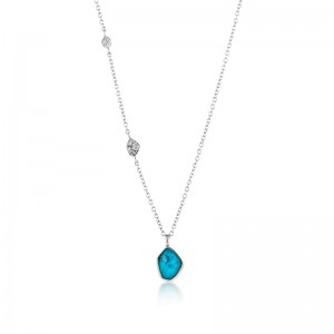 Sterling Silver Turquoise Necklace by Ania Haie