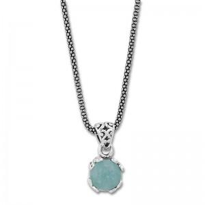 Sterling Silver Aquamarine Pendant by Samuel B.