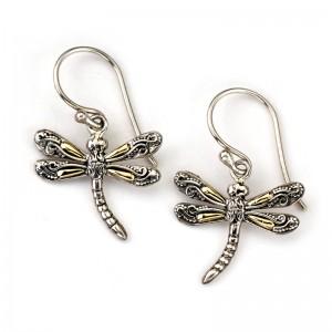 Sterling Silver Dragonfly Earrings by Samuel B.
