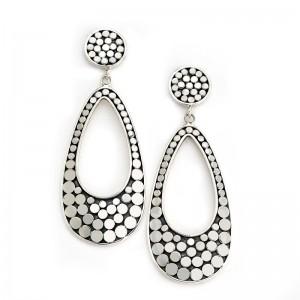 Sterling Silver Dot Design Drop Earrings by Samuel B.