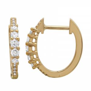 Diamonds Huggie Earrings
