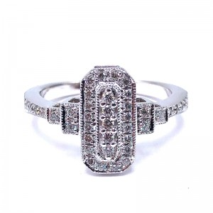 Estate Diamond Filigree Ring