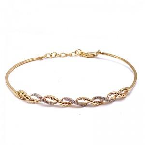 Estate Twist Diamond Cuff Bracelet