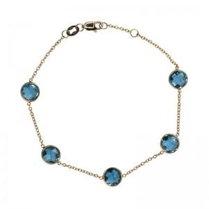 Blue Topaz-London Bracelet by Olivia B