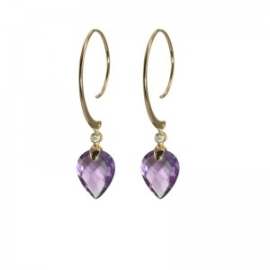 Amethyst Pear Shape Earrings by Olivia B