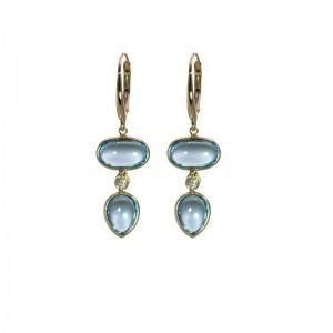 Oval & Pear Swiss Topaz Earrings by Olivia B