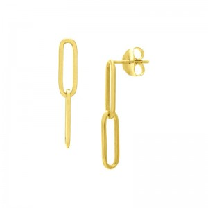 Paper Clip Dangle Earrings