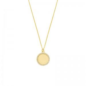Engravable Disk Necklace