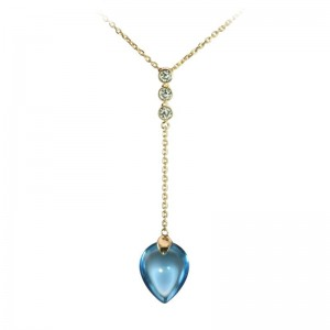 Swiss Topaz & Diamond Pendant by Olivia B