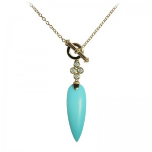 Turquoise Pendant by Olivia B