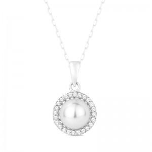 Pearl & Diamond Pendant,