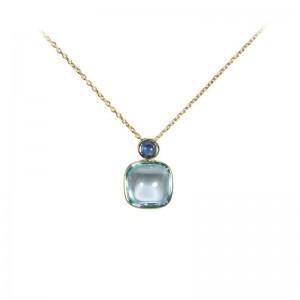 Sky Blue Topaz & Sapphire Pendant by Olivia B