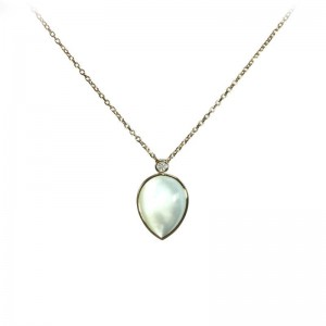 Mother of Pearl Pear Shaped Pendant by Olivia B