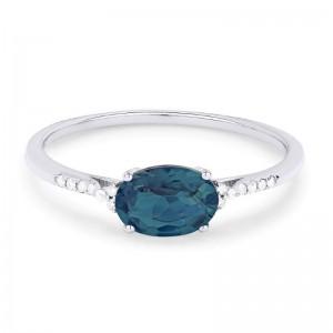 London Topaz & Diamond Ring