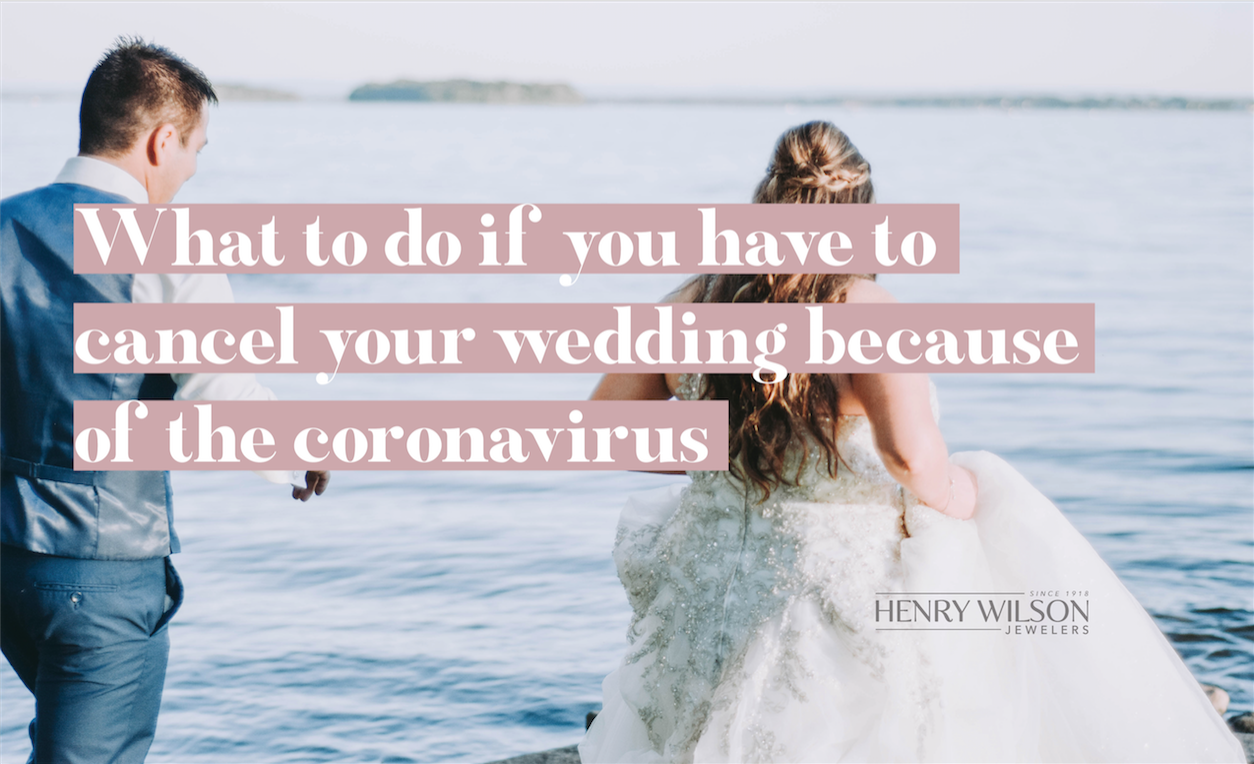 WHAT TO DO IF YOU HAVE TO CANCEL YOUR WEDDING BECAUSE OF THE CORONAVIRUS