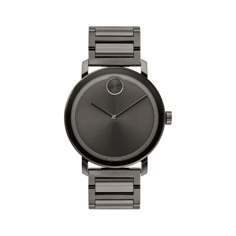 Movado Bold Gunmetal Ion-Plated Stainless Steel Women's Watch