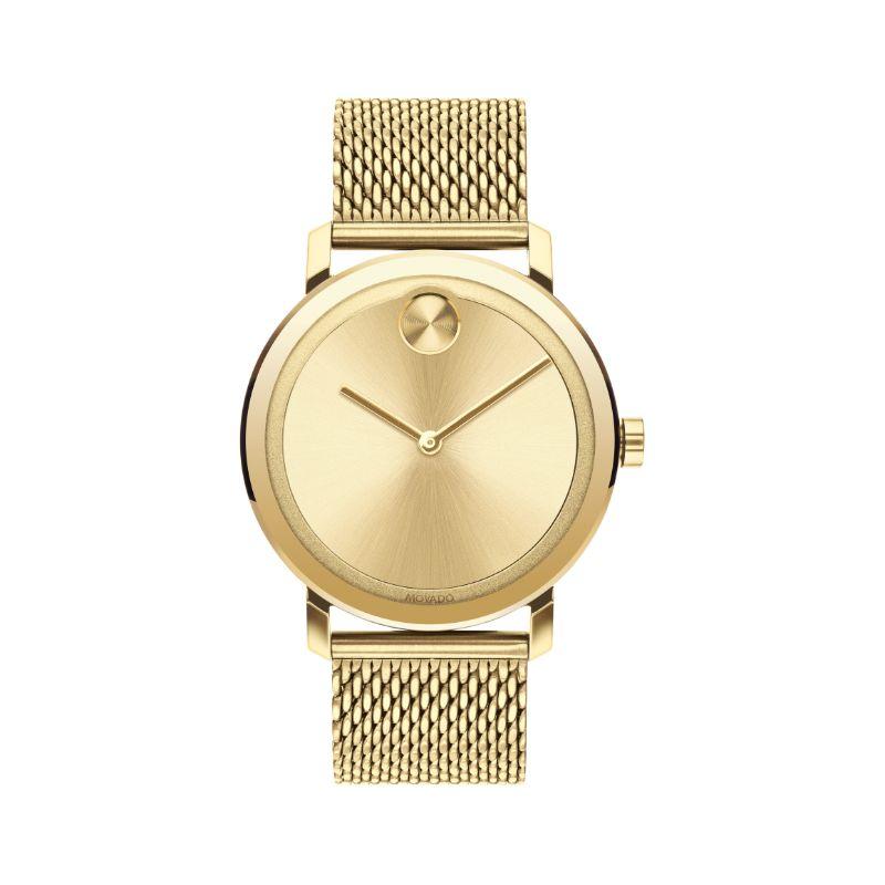 Movado Bold Round Analog Gold Men's Watch