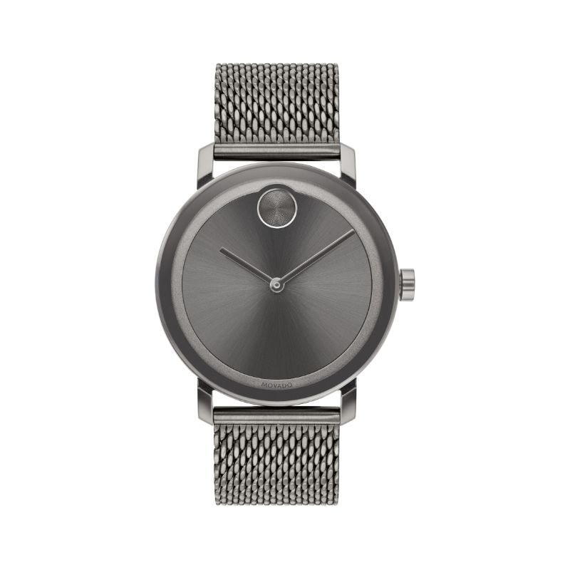 Movado Bold Grey Sunray Dial Men's Watch